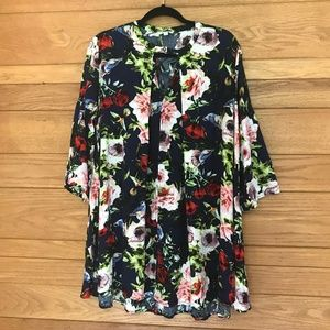 Umgee USA floral oversized tunic dress